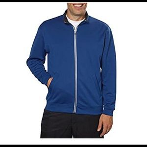 Pebble Beach Blue Performance Zip Up Jacket Medium